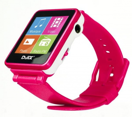 D-JIX  Orologio MP3 FM 4 GB - rosa
