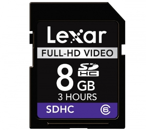 LEXAR  Scheda di memoria SDHC Video Full HD - 8 GB - Classe 6 - Small Blister (LSD8GBFBEUHD)