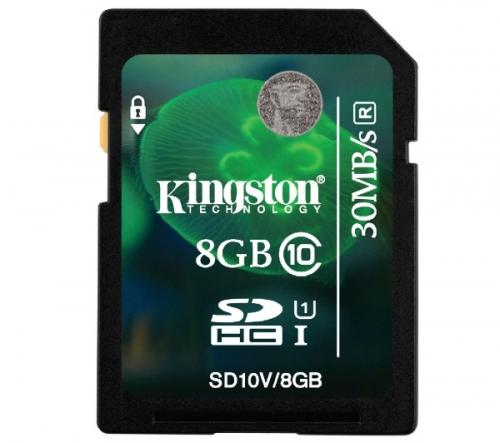 KINGSTON  SDHC 8 GB classe 10 UHS-I 30R - Scheda di memoria