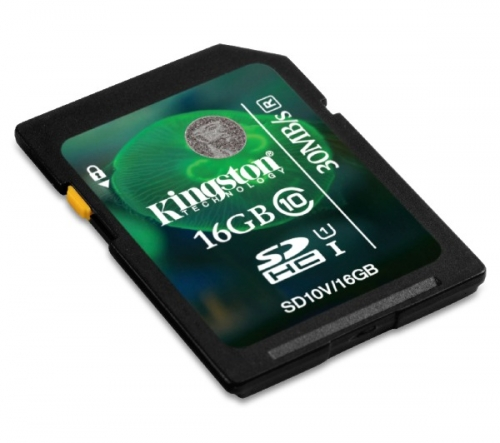 KINGSTON  SDHC 16 GB classe 10 UHS-I 30R - Scheda di memoria