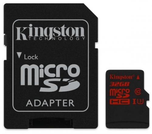 KINGSTON  Scheda di memoria microSDHC da 32 GB UHS-I Speed di Classe 3 (U3)