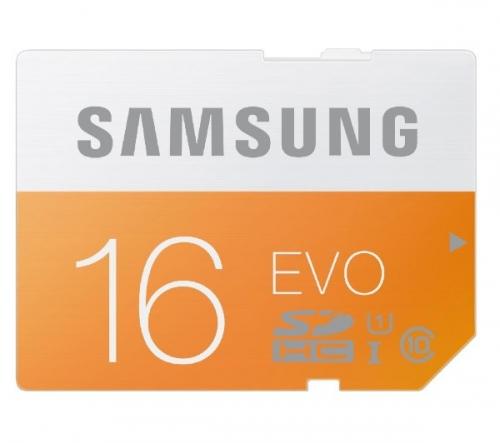 SAMSUNG  Scheda di memoria EVO SDHC  - 16 GB - Classe 10 - (MB-SP16D/EU)