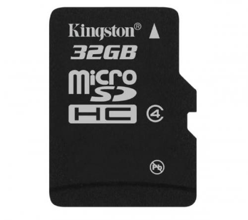 KINGSTON  microSDHC 32 GB - Classe 4 - Scheda di memoria con adattatore (SDC4/32GBSP)