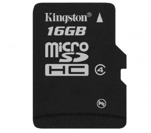 KINGSTON  microSDHC 16 GB - Classe 4 - Scheda di memoria (SDC4/16GBSP)