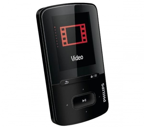 PHILIPS  Lettore MP4 FM GoGEAR ViBE SA4VBE08KF/12 8 GB - nero + Cuffie audio SBCHL145