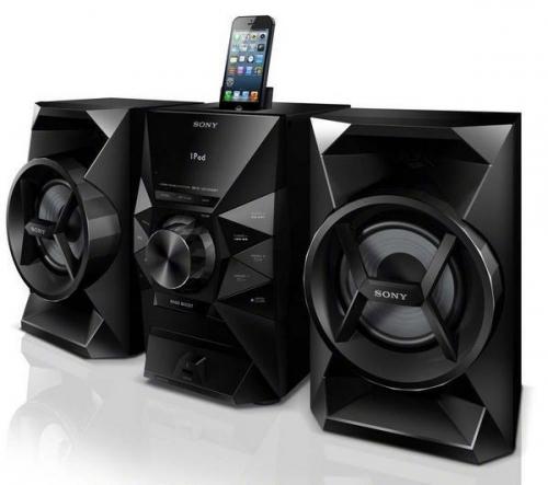SONY  MHC-EC619iP - Mini Hi-Fi + MDR-S70AP - nero - Cuffie