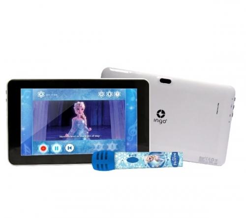 """INGO  Disney - Regina delle Nevi - Tablet da 7"""" con micro karaoke  + Violetta  - Pack accessori per tablet"""